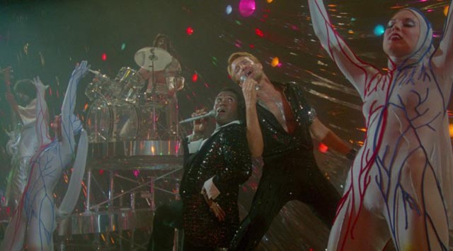 The death of choreographer Joe Gideon (Roy Scheider) is a big production number in Bob Fosse's All That Jazz (1979)