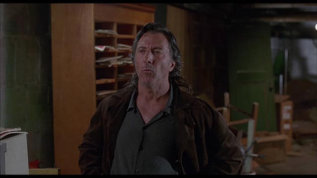 Dustin Hoffman as Teach, a man with anger issues in Michael Corrente's film of David Mamet's American Buffalo (1996)
