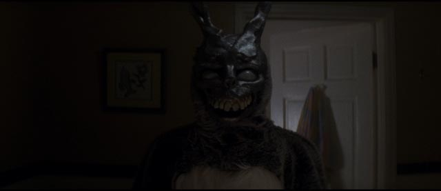 Donnie's visions involve a giant, enigmatic rabbit in Richard Kelly's Donnie Darko (2001)