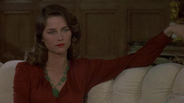 Charlotte Rampling channeling Lauren Bacall as femme fatale Helen Grayle in Dick Richards' Farewell, My Lovely (1975)