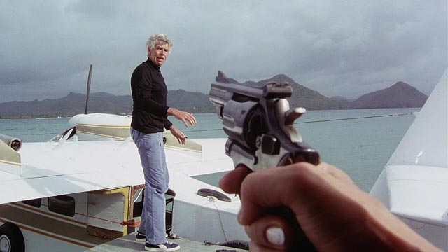 Freelance agent Jerry Fanon (James Coburn) runs into trouble in Michael Winner's Firepower (1979)