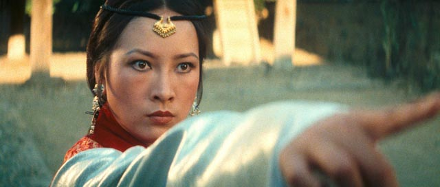 With her plans blocked, Melody (Hsu Feng) unleashes supernatural fury in King Hu's Legend of the Mountain (1979)