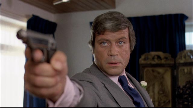 Oliver Reed as gangster Eddie Mars in Michael Winner's The Big Sleep (1978)