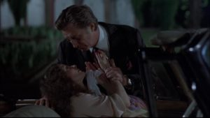 Marlowe doesn't fall for the seductive ways of Charlotte Sternwood (Sarah Miles) in Michael Winner's The Big Sleep (1978)