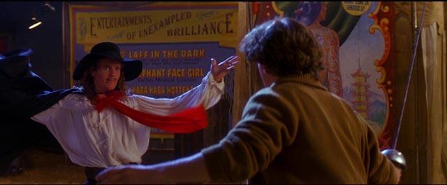 Matt (Joey McIntyre) challenges El Gallo (jonathan Morris) to a duel in Michael Ritchie's The Fantasticks (1995/2000)