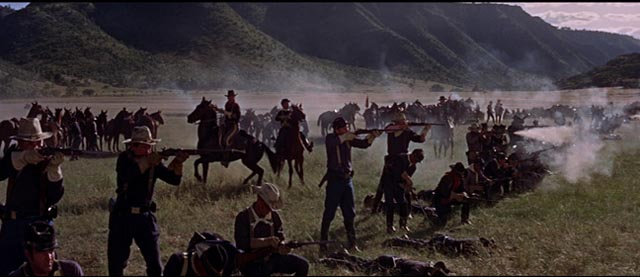 But romanticism gives way to madness and brutality in Arnold Laven's The Glory Guys (1965)