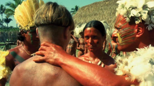 The Frenchman, his temporary wife and the tribal chief in Nelson Pereira dos Santos' How Tasty Was My Little Frenchman (1971)