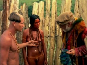 The Frenchman is unable to persuade a French trader to help him in Nelson Pereira dos Santos' How Tasty Was My Little Frenchman (1971)