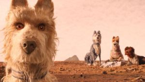 The dogs exiled to a garbage archipelago assist a boy searching for his lost companion in Wes Anderson's Isle of Dogs (2018)