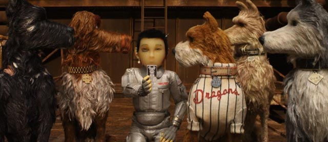 Atari searches for his missing companion Spots in Wes Anderson's Isle of Dogs (2018)