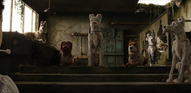 Atari's search takes him to colony of damaged dogs in a ruined research lab in Wes Anderson's Isle of Dogs (2018)