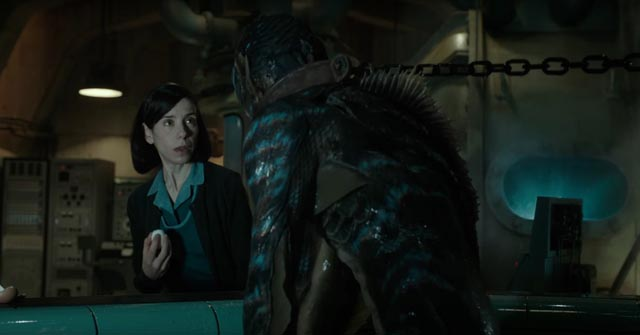 Elisa (Sally Hawkins) developes an emotional attachment to the Creature in Guillermo del Toro's The Shape of Water (2017)
