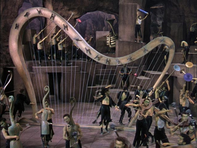 The dark and menacing dungeon ballet in Dr. Seuss' The 5000 Fingers of Dr. T (1953)