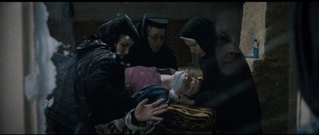 Alina (Cristina Flutur)'s unhappiness and rage is seen as demonic possession by the nuns in Cristian Mungiu's Beyond the Hills (2012)