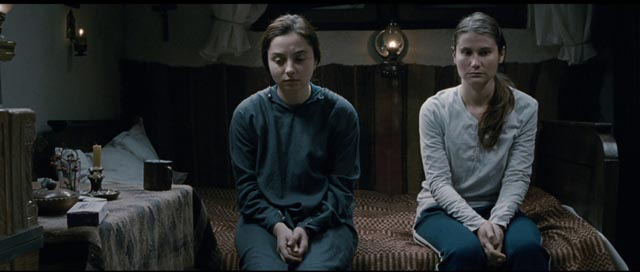 Alina (Cristina Flutur) can't comprehend the choice Voichita (Cosmina Stratan) has made in Cristian Mungiu's Beyond the Hills (2012)