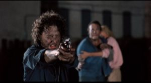 The soup kitchen guy (Daniel Stern) takes a moment to confront deadly urban mutants in Douglas Cheek's C.H.U.D. (1984)