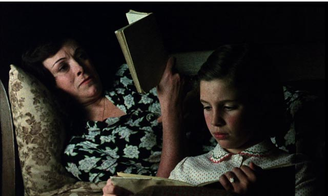 Deprived of her work as a teacher, outside the bond between husband and daughter, Julia (Lola Cardona) retreats into literature in Victor Erice's El Sur (1983)