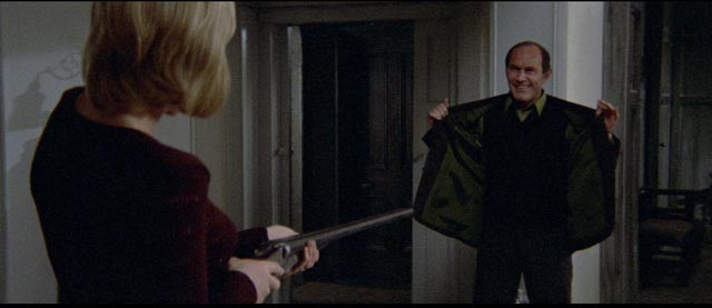 Cathryn confronts a phantom from her past (Marcel Bozzuffi) in Robert Altman's Images (1972)