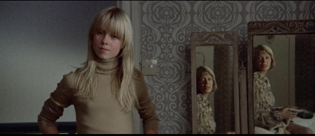 Cathryn (Susannah York)'s identity is fragmented and blended with Susannah (Cathryn Harrison)'s in Robert Altman's Images (1972)