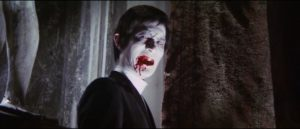 The vampire (Shin Kishida) emerges from a young woman's memories in Michio Yamamoto's Lake of Dracula (1971)