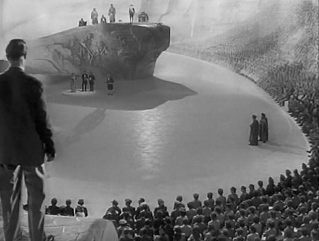 The Heavenly court where Peter's fate is to be decided in Michael Powell and Emeric Pressburger's A Matter of Life and Death (1946)