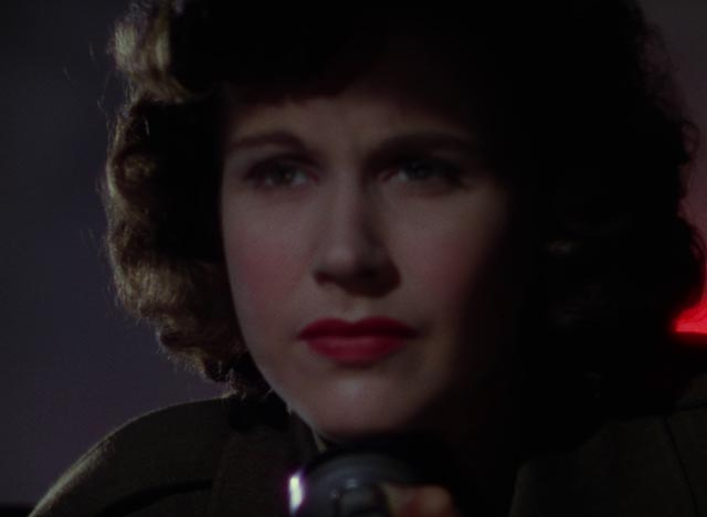 ... an attitude which deeply affects radio operator June (Kim Hunter) in Michael Powell and Emeric Pressurger's A Matter of Life and Death (1946)