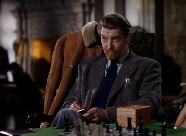 Powell favourite Roger Livesey as Dr. Frank Reeves in Michael Powell and Emeric Pressburger's A Matter of Life and Death (1946)