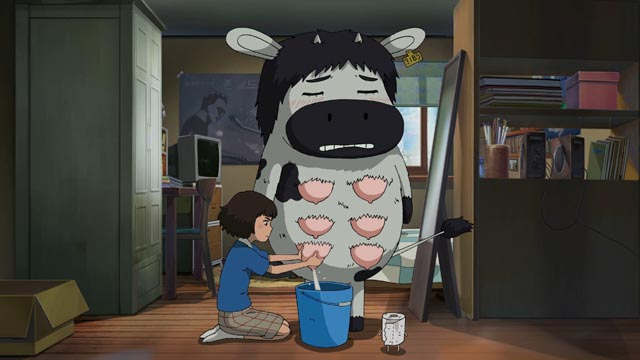 This may scar the younger kids: Satellite Girl provides her boyfriend Milk Cow with a little relief in Chang Hyung-yun's Satellite Girl and Milk Cow (2014)