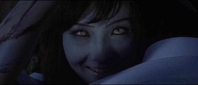 Yûko (Yukiko Kobayashi) needs blood in Toho's western-style horror Michio Yamamoto's The Vampire Doll (1970)