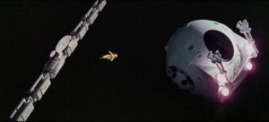 The fragile vulnerability of a human in space: Frank Poole (Gary Lockwood) about to die in 2001: A Space Odyssey (1968)