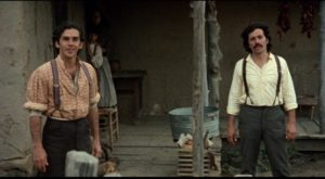 ... Gregorio (Edward James Olmos) and his brother Romaldo (Pepe Serna) simply because they are Mexican in Robert M. Young's The Ballad of Gregorio Cortez (1982)