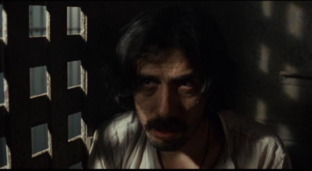Gregorio Cortez (Edward James Olmos) waits in jail for white society to pass its judgement on him in Robert M. Young's The Ballad of Gregorio Cortez (1982)