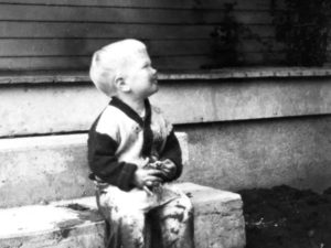 Young David Lynch seemingly unaware of the dark and twisted future to be unleashed by his art