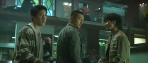 Jaycee Chan, Shawn Yue and Nicholas Tse about to get busy in Benny Chan's Invisible Target (2007)