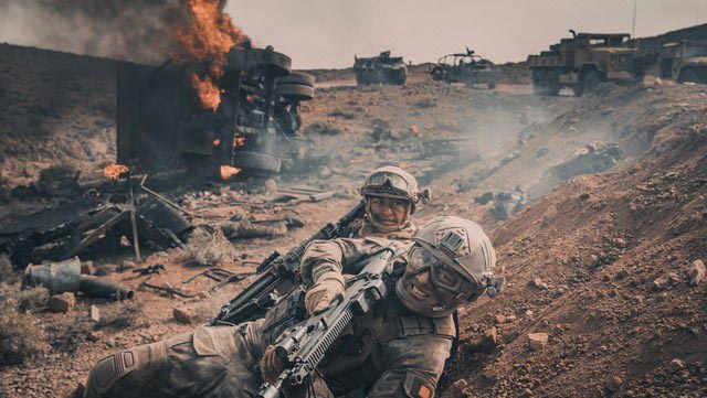 Chinese marines fight across hostile North African territory in Dante Lam's Operation Red Sea (2018)