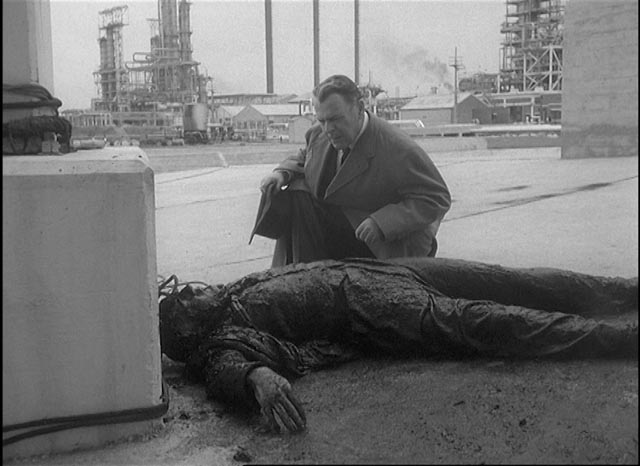 Sinister doings at a vast processing plant in Val Guest's Quatermass 2 (1957)