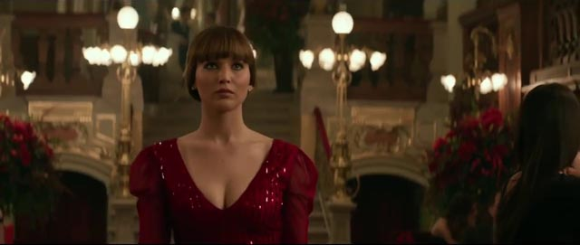 Jennifer Lawrence as a Russian ballerina-turned-agent in Francis Lawrence's Red Sparrow (2018)