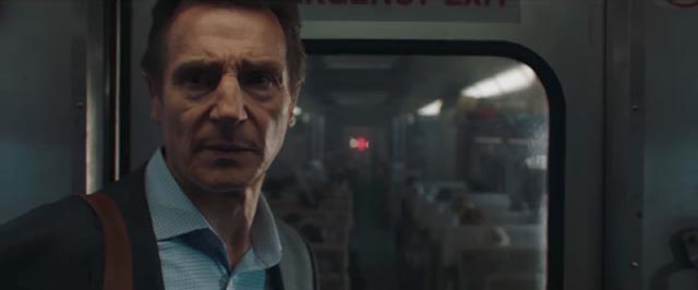 Liam Neeson is once again trapped with bad guys in confined moving space in Jaume Collet-Serra's The Commuter (2018)