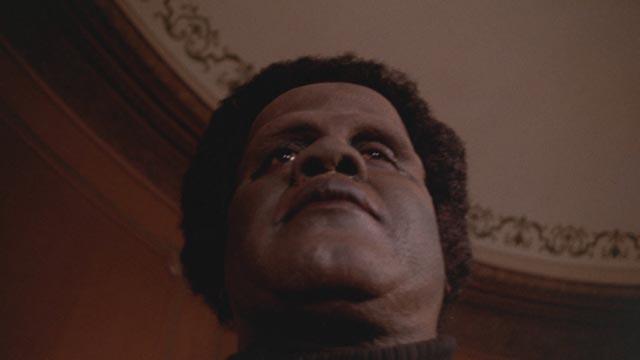 Joe De Sue as a severely injured Vietnam vet transformed into a monster in William A Levey's Blackenstein (1973)
