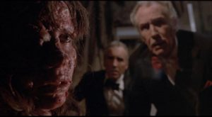Vincent Price and Christopher Lee discover something unpleasant in Pete Walker's House of the Long Shadows (1983)
