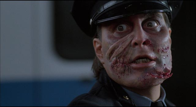 Robert Z'Dar as killer cop Matt Cordell in William Lustig's Maniac Cop (1988)