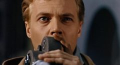 Mark Lewis (Karlheinz Boehm) is obsessed with trying to capture terror on film in Michael Powell's Peeping Tom (1959)