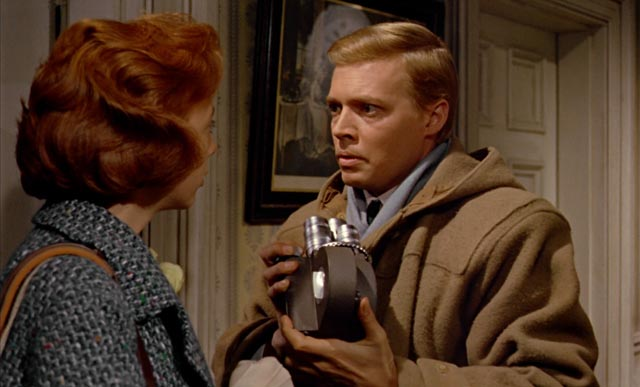 Helen's sympathy fills Mark with a new anxiety in Michael Powell's Peeping Tom (1959)