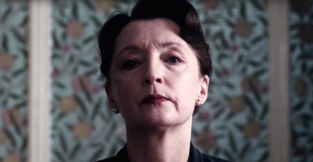 Lesley Manville as Reynolds sister/guardian Cyril in Paul Thomas Anderson's Phantom Thread (2017)