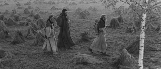 Andrei (Anatoliy Solonitsyn) and his companions wander through a chaotic world in Andrei Tarkovsky's Andrei Rublev (1966)