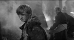 Boriska (Nikolay Burlyaev) oversees the firing of the bell in Andrei Tarkovsky's Andrei Rublev (1966) ...