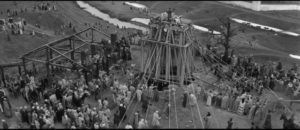 ... and the bell is raised for the first ringing in Andrei Tarkovsky's Andrei Rublev (1966)