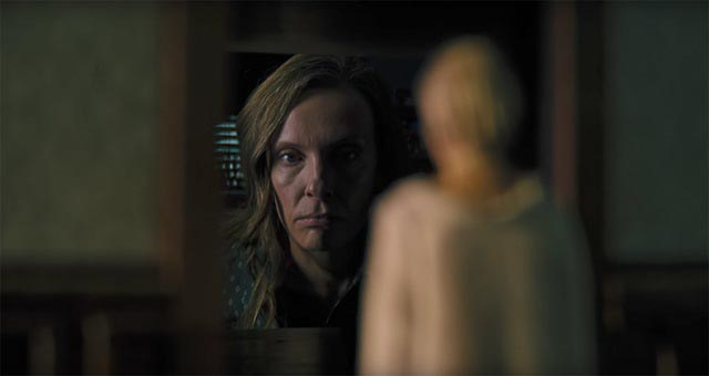 Toni Collette as a mother tormented by grief and guilt in Ari Aster's Hereditary (2018)