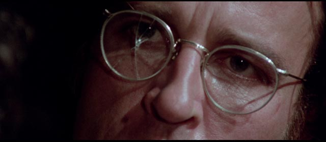 Paolo Germi (Claudio Cassinelli) is troubled throughout by imperfect vision in Sergio Martino's The Suspicious Death of a Minor (1975)