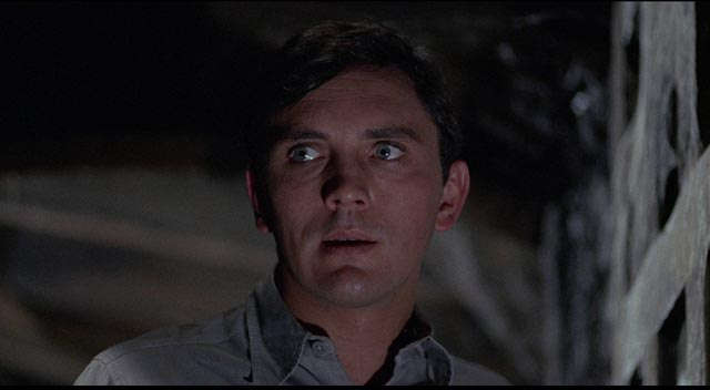 Freddie (Terence Stamp) is insecure, yet convinced that he deserves Miranda (Samantha Eggar) in William Wyler's The Collector (1965)